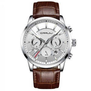 Sport Quartz Waterproof Wrist Watch - Chronograph, Calendar