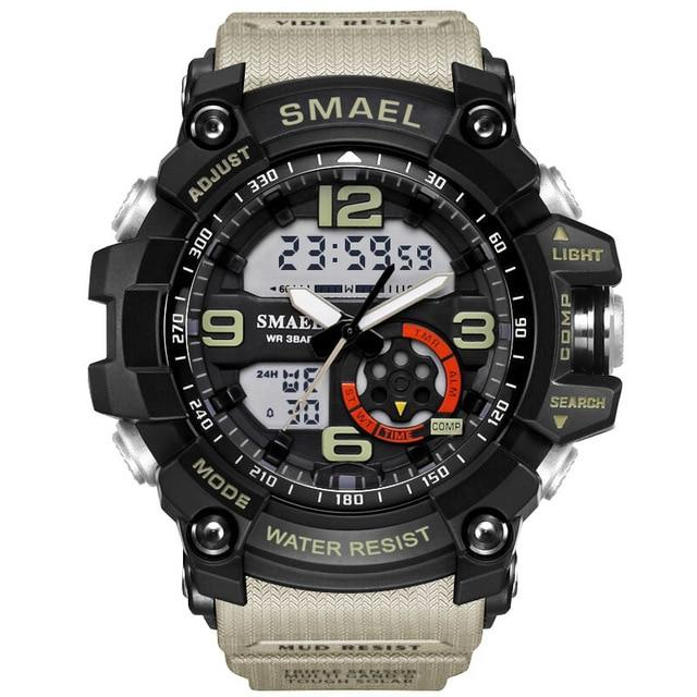 Sports Watches Man Light Waterproof Sport Digital Watch Quartz LED Clock