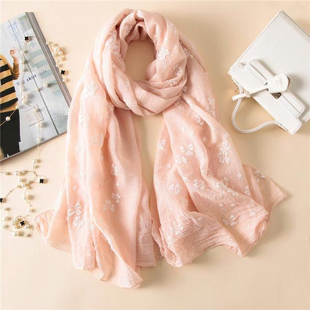 Spring Women Scarf From Thin Long Silk With 3D Print - GiftWorldStyle - Luxury Jewelry and Accessories
