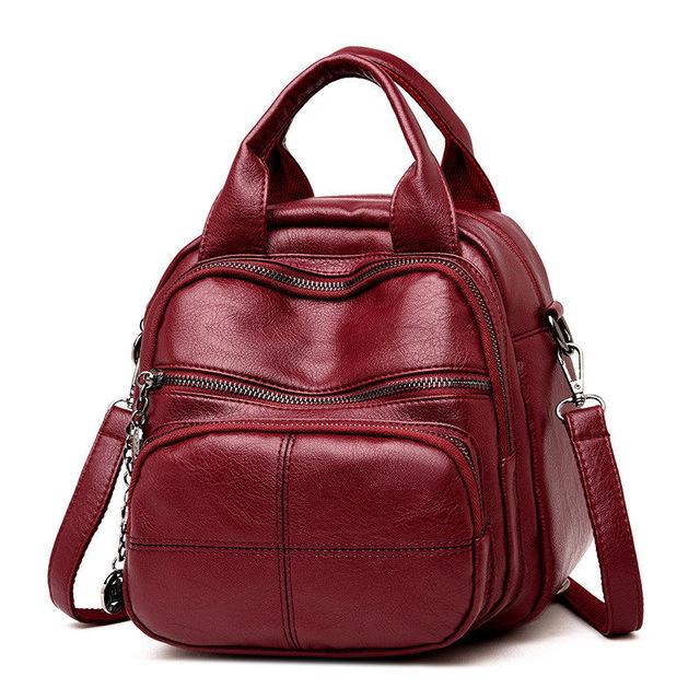 Leisure Style Soft Leather Mini Backpack - GiftWorldStyle - Luxury Jewelry and Accessories