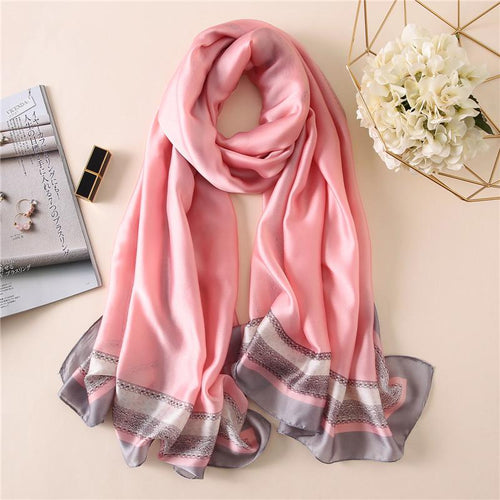 Colorful Women Oblong Scarf With Foulard Print - GiftWorldStyle - Luxury Jewelry and Accessories