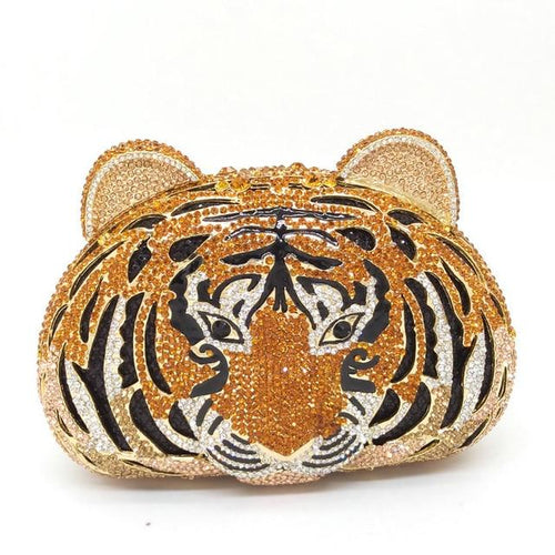 Diamond Metal Bag With Hollow Out In Tiger Shape - GiftWorldStyle - Luxury Jewelry and Accessories
