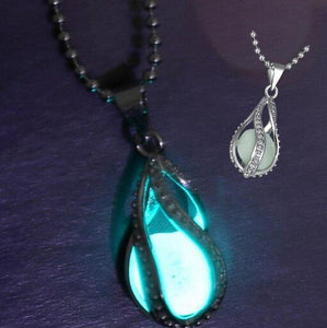 Glowing Necklace With Couple The Little Mermaid's Teardrop - GiftWorldStyle - Luxury Jewelry and Accessories