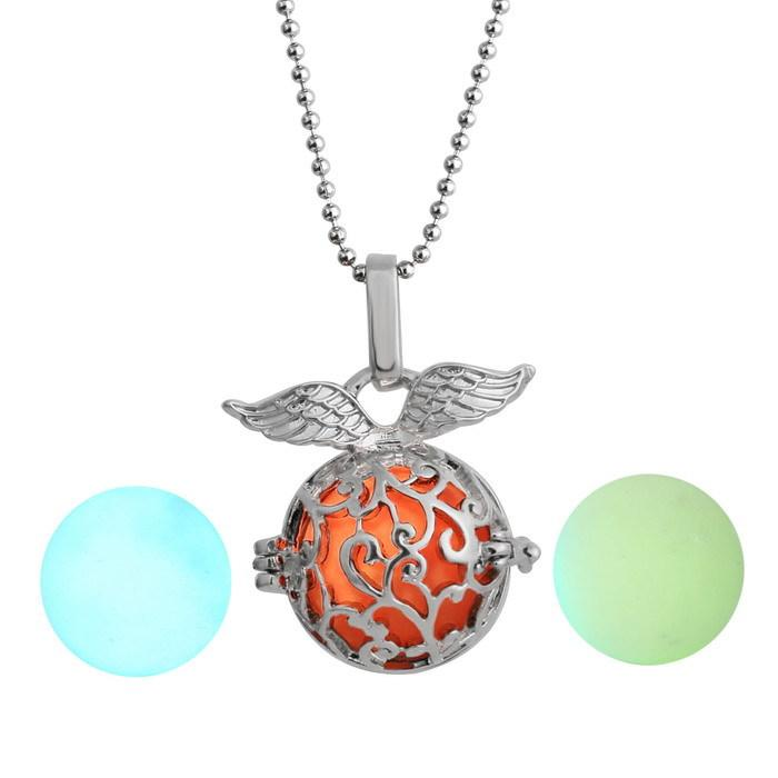 Vintage Glow In Dark Charms Necklaces For Women Glowing Necklace Pendants