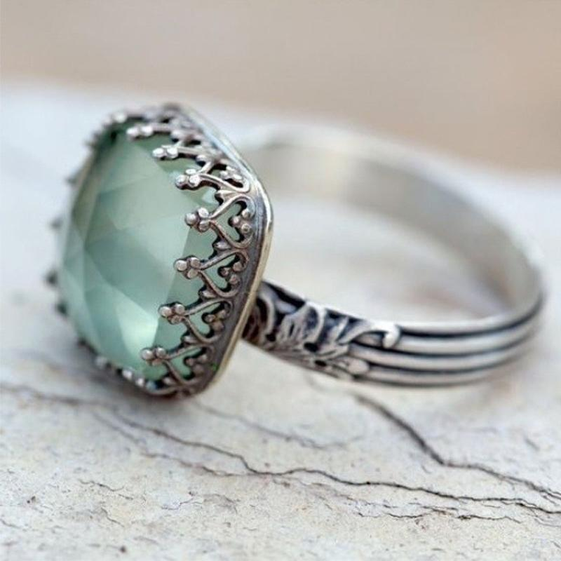 Tibetan Moonstone Ring In Vintage Style With Copper - GiftWorldStyle - Luxury Jewelry and Accessories
