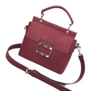 Vintage Style Buckle PU Leather Handbag - Women's Shoulder Bag - GiftWorldStyle - Luxury Jewelry and Accessories