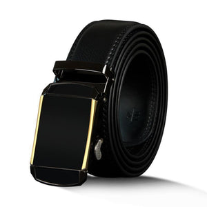 Vintage Style Genuine Leather Belt For Men - Automatic Buckle