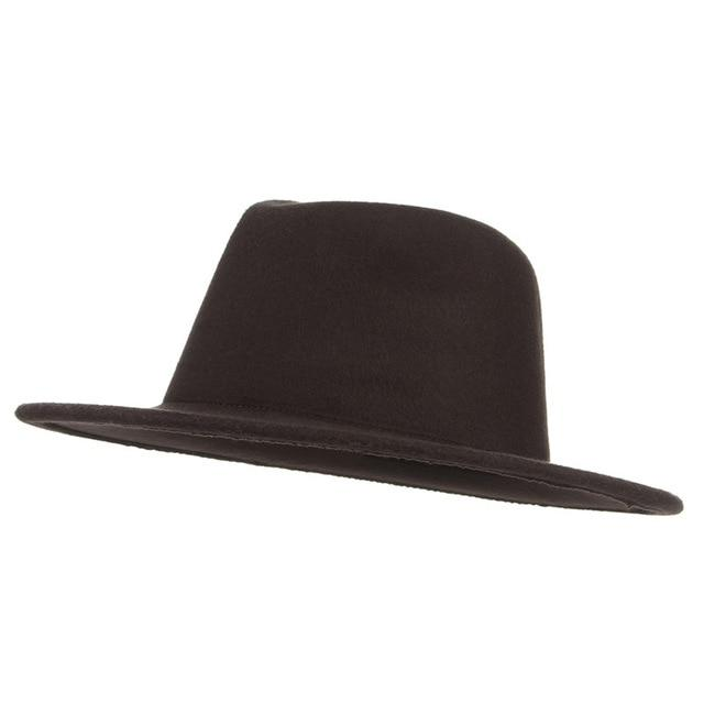 Wide Brim Fedora Hat With Vintage Wool, Church Cap - GiftWorldStyle - Luxury Jewelry and Accessories