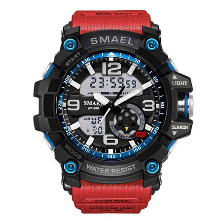 Watch Sport Men's Wristwatch LED Digital Clock Waterproof Dual Time Military Watch Military