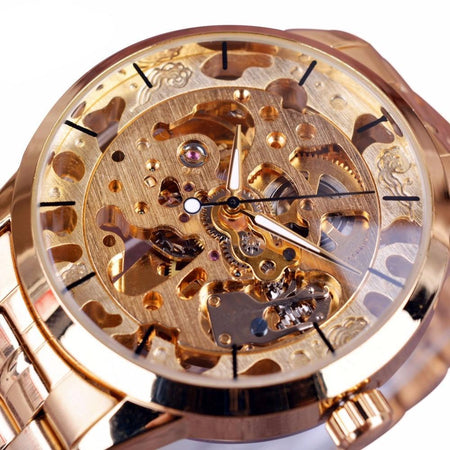 Winner Casual Men Watches Automatic Skeleton Watch Clock Men Wristwatch - GiftWorldStyle - Luxury Jewelry and Accessories
