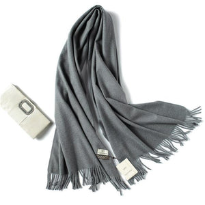 Winter Scarf Thick Warm Women Scarves Cashmere Shawls And Wraps Wool