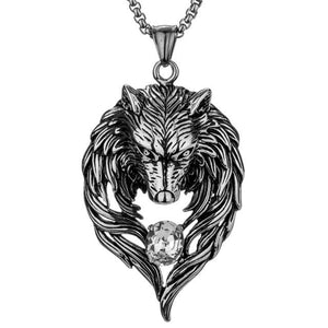Wolf Stainless Steel Necklace Pendant