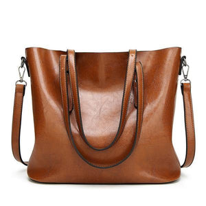 Women Bag Women Big Handbags Oil Wax Leather Retro Vintage Style Women Bag Tote Cross Body
