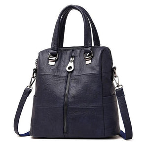 Women Leather Backpacks Vintage Female Shoulder Travel Ladies School Bags