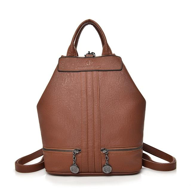 Women's Backpack Leather Shoulder Bags Women Large Capacity School Bag