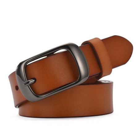 Women's Casual Belt Brief Genuine Leather