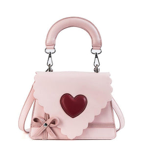 Women's Casual Shoulder Bag - Cream Red Heart - GiftWorldStyle - Luxury Jewelry and Accessories