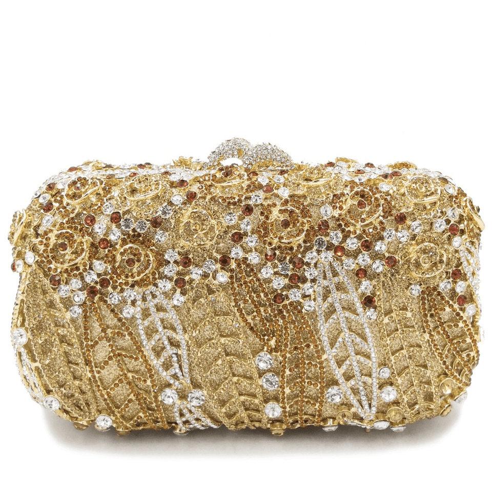 Women's Crystal Clutch Evening Bag - Bridal Diamond Handbag - GiftWorldStyle - Luxury Jewelry and Accessories