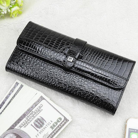 Women's Patent Leather Wallet  - Casual Purse
