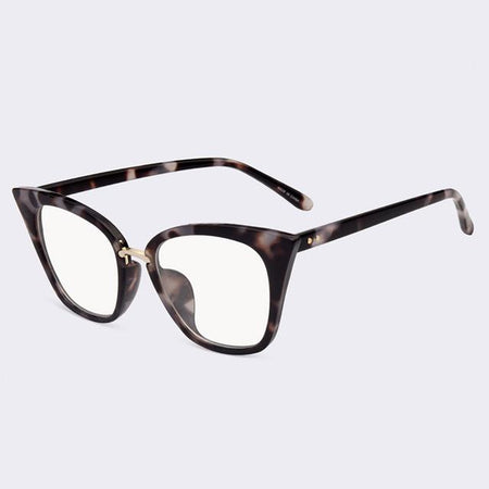Women's Plain Glasses Cat Eye Glasses Frame Clear Lens Optical Spectacle Eyeglasses Goggles - GiftWorldStyle - Luxury Jewelry and Accessories