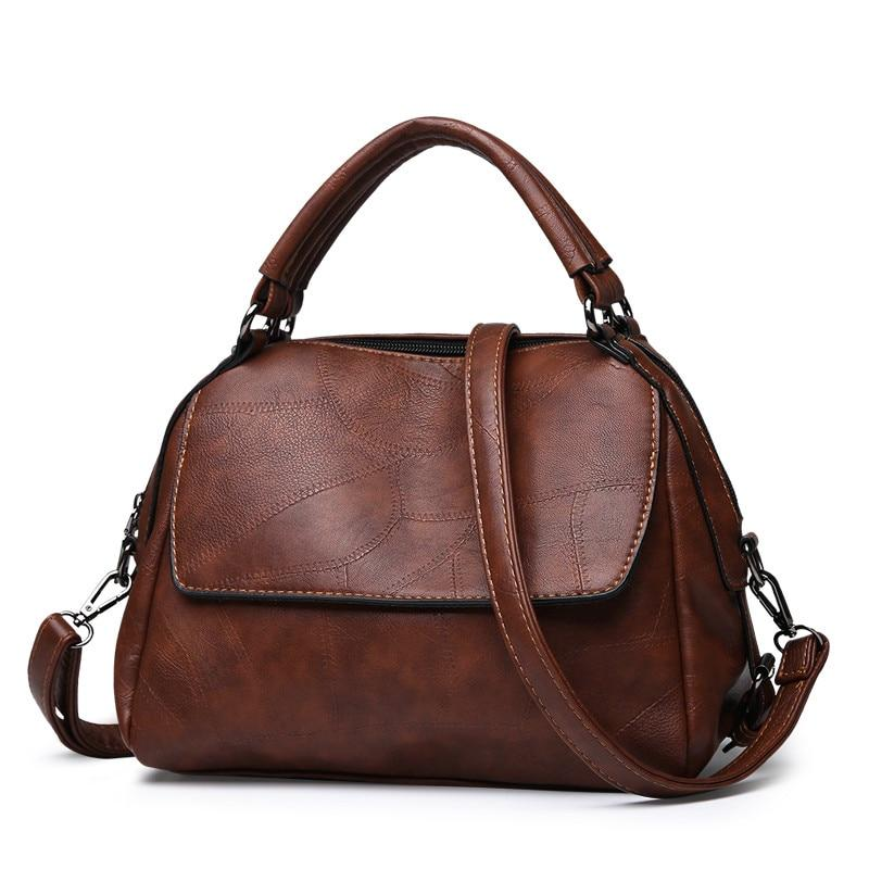 Women's Vintage Style Leather Shoulder Handbag - GiftWorldStyle - Luxury Jewelry and Accessories