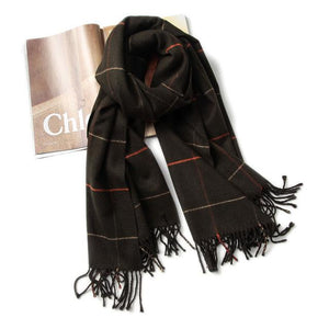 Women's Plaid Warm Scarf From Cashmere,Acrylic - GiftWorldStyle - Luxury Jewelry and Accessories