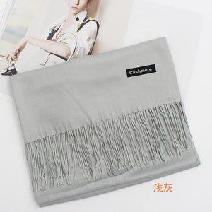 Women Scarf Solid Winter Scarves Cashmere Shawls And Wraps Lady Soft Long