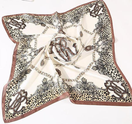 Striped Women Scarf With Dots Print From Pure Silk - GiftWorldStyle - Luxury Jewelry and Accessories