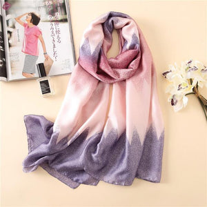 Women Silk Scarf Beach Shawl And Wrap Scarves Plus Size Female Beach Stole - GiftWorldStyle - Luxury Jewelry and Accessories