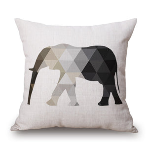 Geometric Animals Linen Cushion Covers
