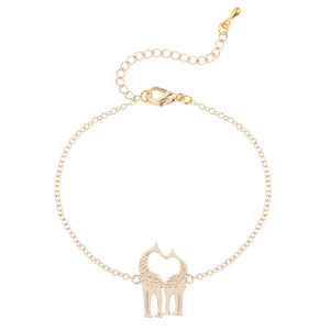 Heart Shaped Giraffe Bracelet
