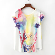 Cartoon Giraffe Print Shirt
