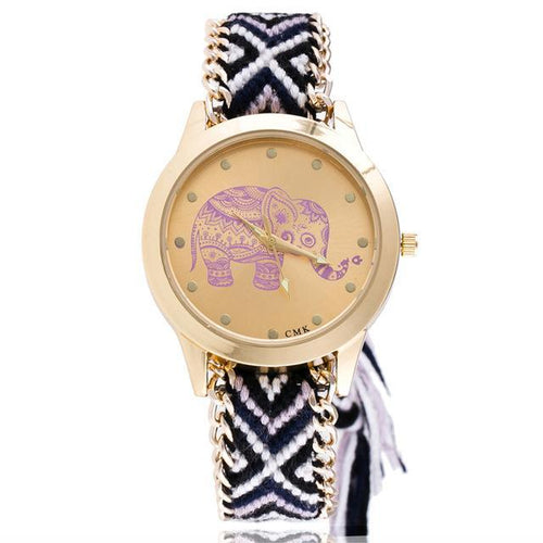 Braided Elephant Watch
