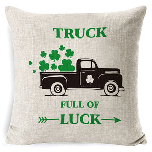 St. Patrick's Day Clover Linen Pillowcases✔