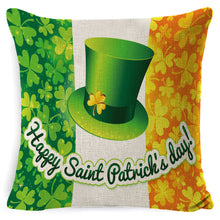 Load image into Gallery viewer, St. Patrick's Day Clover Linen Pillowcases✔