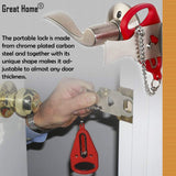 Portable Door Lock for Travelers