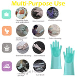 "Magic Saksak Silicone Cleaning Gloves (15.4"" Large)2018 New Upgraded"