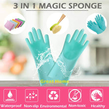 Load image into Gallery viewer, Magic Saksak Silicone Cleaning Gloves