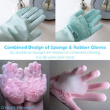 Magic Saksak Reusable Silicone Cleaning Brush Scrubber Gloves