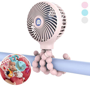 Mini Stroller Fan USB Rechargeable