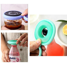 Load image into Gallery viewer, Four-in-one Silicone Magnetic Suction Bottle Opener