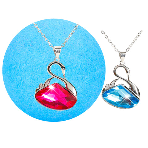 Bath Bomb with Surprise Jewelry Swarovski Crystal Necklace