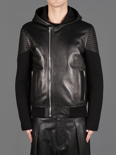 50 Cent Leather Jacket Hooded