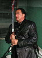 Against The Dark Steven Seagal Black Leather Coat
