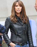 Alex Jones Rocks Bombshell Leather Jacket