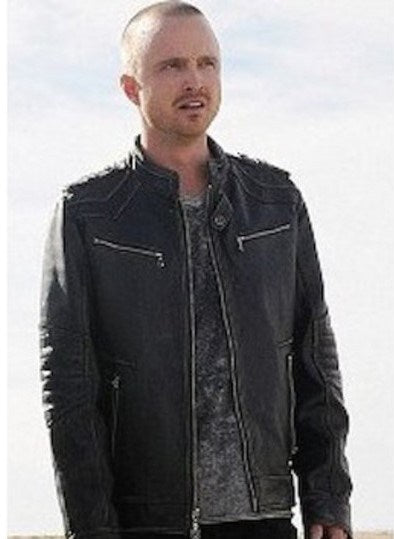 Aaron Paul Breaking Bad Slimfit Leather Jacket