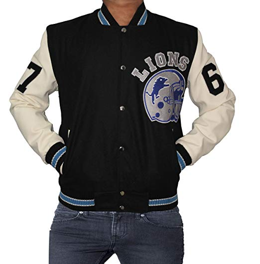 Detroit Lions Axel Foley Varsity Jacket Beverly Hills Edition | Detroit Lions Mens Apparel