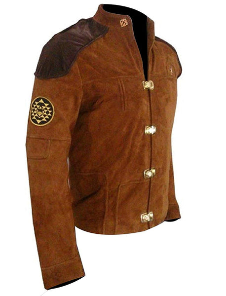 Warriors Viper Pilot Battlestar Galactica Brown Suede Jacket-Lowest Price Jacket