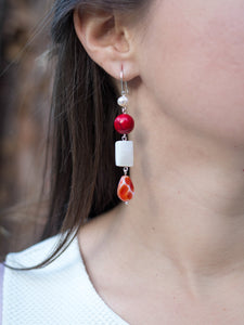 Camelia earrings