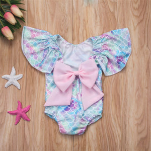 Big Bowed Mermaid Swimsuit - Addy's Attic